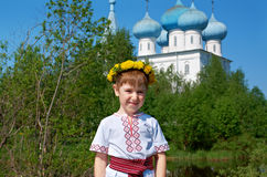 Russian little boy Stock Photo
