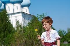 Russian little boy Stock Photo
