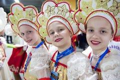 Russian little girls Stock Photography