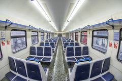 Russian local train Royalty Free Stock Photos
