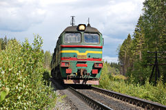 Russian locomotive Royalty Free Stock Photography
