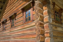 Russian log house. Old Russian northen log house Royalty Free Stock Image
