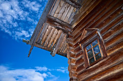Russian log house. Old Russian northen log house Royalty Free Stock Photo