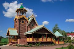 Russian log hut. Ancient the wooden country house. Russia Royalty Free Stock Photos