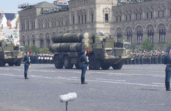 Russian long range missile systems S-300. Russian long range surface-to-air missile systems S-300. Moscow Victory Parade of 2008 Stock Photography