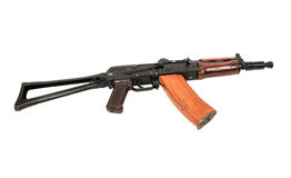 Russian machine gun AKS-74U Stock Photography