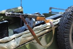 Russian machine gun Royalty Free Stock Images