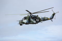 Russian-made attack helicopter Stock Images