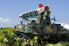 Russian made ballistic rocket and its launcher, Havana, Cuba Stock Photos