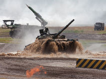 Russian main battle tank Stock Image
