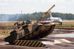 Russian main battle tank Stock Image