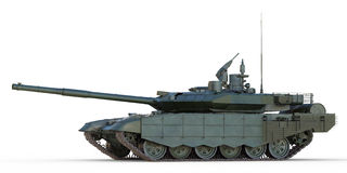 Russian Main Battle Tank Side View. Royalty Free Stock Photo