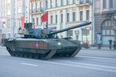 Russian main battle tank T-14  Royalty Free Stock Image