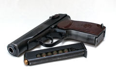 Russian Makarov police gun of 9 mm Royalty Free Stock Photos