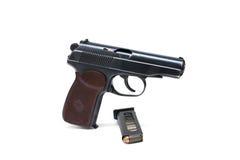 Russian Makarov police gun of 9 mm Stock Image