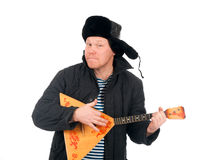Russian man with balalaika Royalty Free Stock Photo