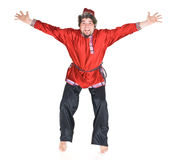 Russian man jumping Royalty Free Stock Photos