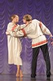 Russian man and woman in national costume Royalty Free Stock Photography