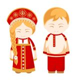 Russian man and woman. vector illustration