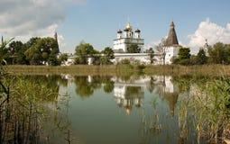 Russian manastery. Ancient Joseph-Volokolamsk Monastery (Iosifo-Volotsky) in Russia Stock Photo