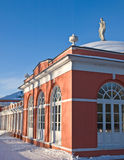 Russian manor house. On shiny winter day Royalty Free Stock Image