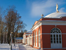 Russian manor winter view. On shiny day Royalty Free Stock Photos