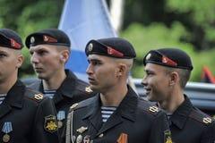 Russian Marines in uniform Royalty Free Stock Photos