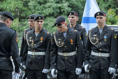 Russian Marines in uniform Royalty Free Stock Image