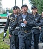 Russian Marines in uniform Stock Photos