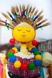 Russian Maslenitsa doll simbolizing sun. Russia, Yaroslavl 16 of February 2015 Royalty Free Stock Image
