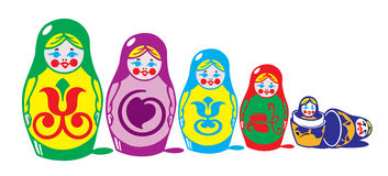 Russian matreshka Royalty Free Stock Image