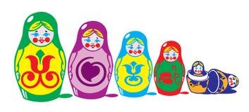 Russian matreshka. Russian national hand made toy Royalty Free Stock Image
