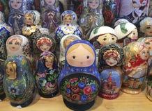 Russian matreshka doll souvenir Royalty Free Stock Photography