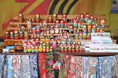 Russian matreshka souvenir shop Stock Photo
