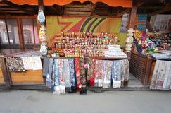 Russian matreshka souvenir shop Royalty Free Stock Photography