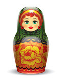 Russian matrioshka. Illustration. Royalty Free Stock Photos