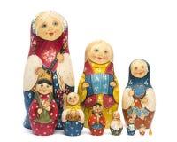 Russian matrioshkas matte painted and isolated. Russian dolls had made matte painted and isolated Stock Photo
