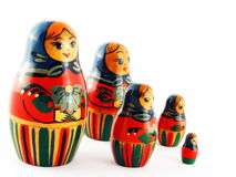 Russian Matroska Doll Family Royalty Free Stock Photography