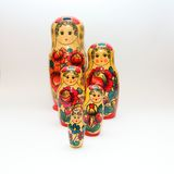Russian Matroska Doll Family: Retro series pos. 02 Stock Images