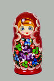 Russian Matryoshka. On the gray background Royalty Free Stock Image