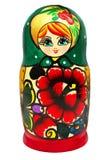 Russian Matryoshka. Russian wooden matrioshka dolls isolated on a white background royalty free stock images