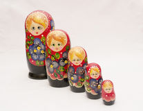 Russian matryoshka. Souvenir - Russian dolls on a white background Royalty Free Stock Photo