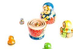 Russian Matryoshka doll. Matryoshka doll set isolated on a white background Royalty Free Stock Images