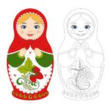 Russian matryoshka doll. royalty free illustration