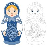 Russian matryoshka doll. vector illustration
