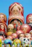 Russian matryoshka dolls Royalty Free Stock Images