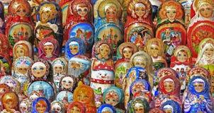 Russian Matryoshka Dolls. Russian nesting dolls (matryoshka / babushka Royalty Free Stock Image