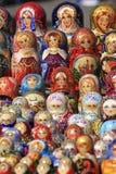 Russian Matryoshka Dolls. Russian nesting dolls (matryoshka / babushka Stock Photography
