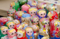 Russian Matryoshka dolls Royalty Free Stock Photography