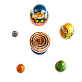 Russian Matryoshka dolls set Royalty Free Stock Photos